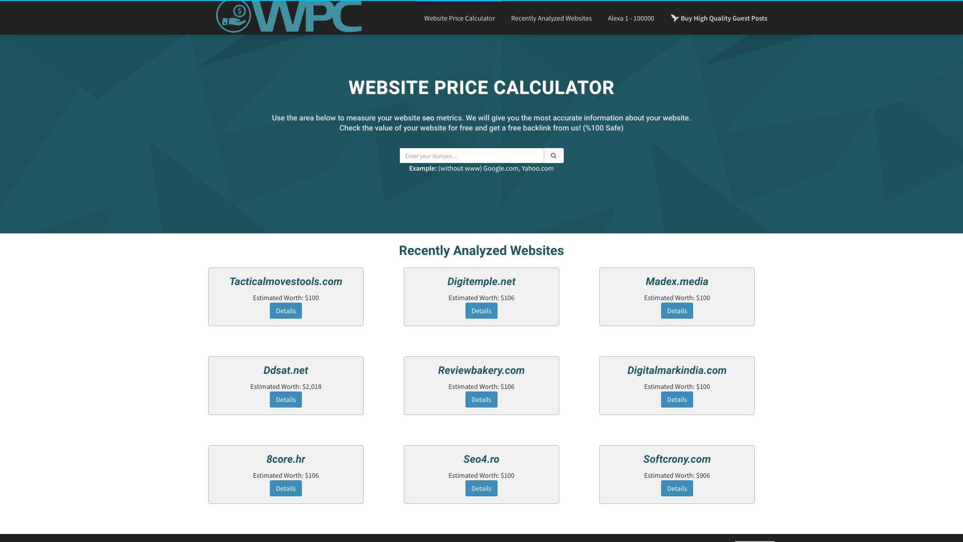 website-price-calculator.info