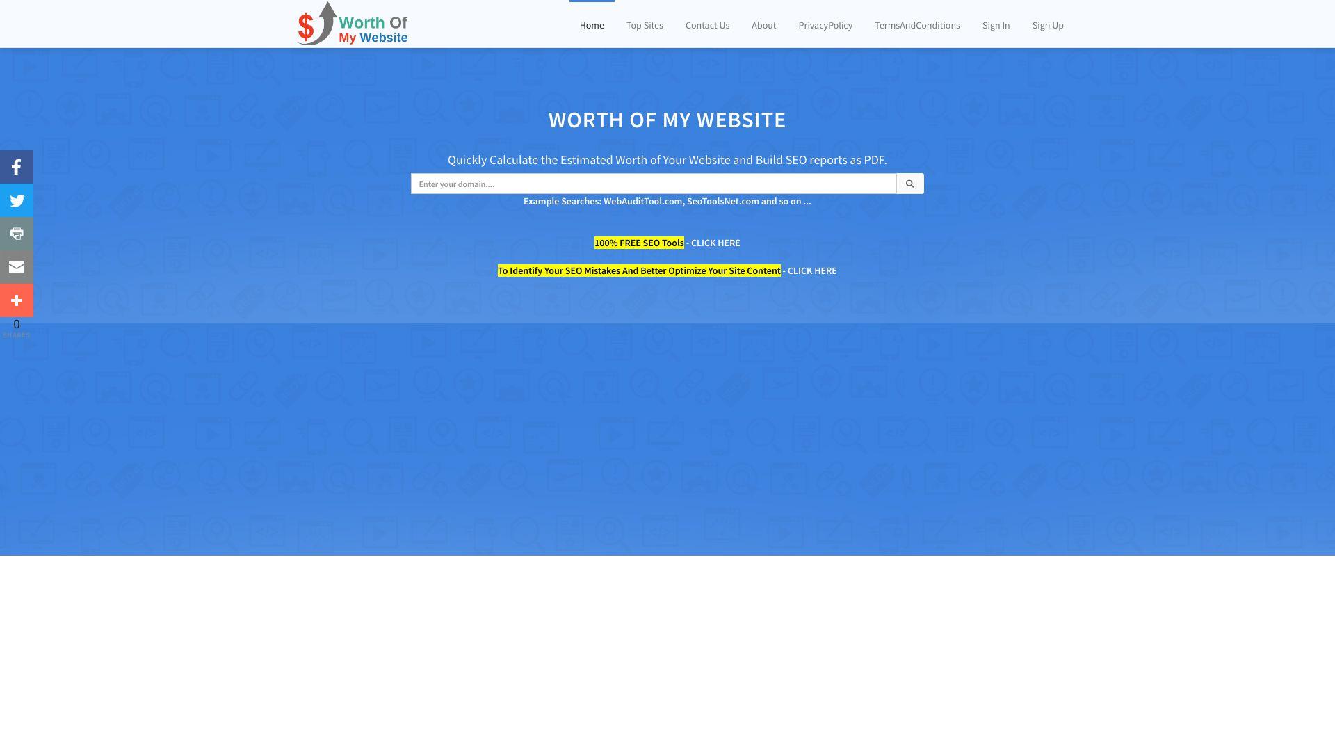 worthofmywebsite.com